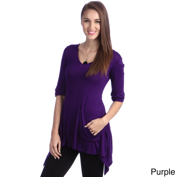 24/7 Comfort Apparel Women's One Pocket Tunic Top