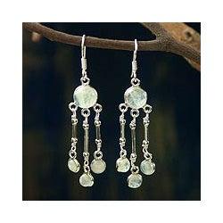 Sterling Silver 'India Dreamer' Moonstone Earrings (India)