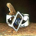 Sterling Silver 'In Balance' Iolite Solitaire Ring (India)