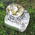 Sterling Silver 'Majestic' Citrine Ring (Indonesia)