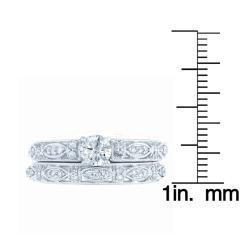 10k White Gold 3/4ct TDW Diamond Wedding Ring Set (H-I, I1-I2)