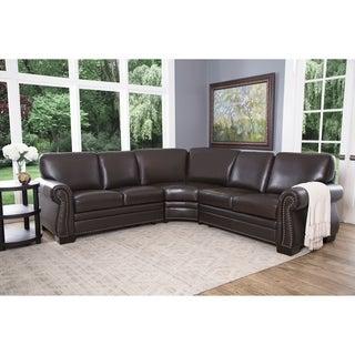 ABBYSON LIVING Oxford Premium Top-grain Leather Sectional Sofa