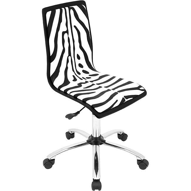 Printed Zebra Computer Chair