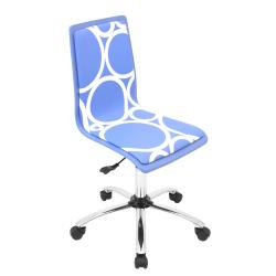 Printed Circles Blue Computer Chair
