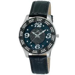 Joshua & Sons Men's Water-Resistant Swiss Quartz Diamond Strap Watch