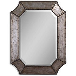 Uttermost Elliot Distressed Aluminum Rustic Framed Mirror