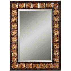 Uttermost Justus Distressed Mahogany Wood Framed Mirror
