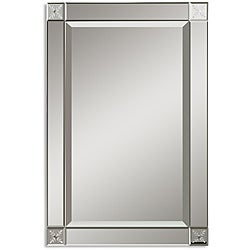 Uttermost Emberlynn Etched Bevel Framed Mirror