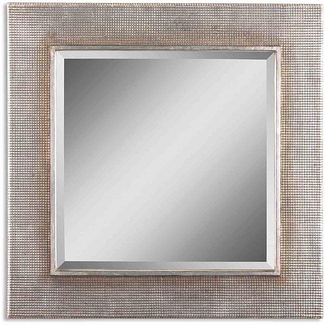 Uttermost Afton Silver Champage Leaf Framed Mirror