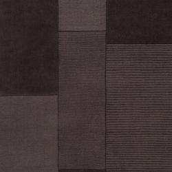 Hand-crafted Solid Dark Brown Diavik Wool Rug (8' x 10')