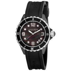 Akribos XXIV Women's Ceramic Strap Watch
