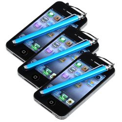 INSTEN Blue Touch Screen Stylus for Apple iPhone/ iPod/ iPad (Pack of 3)