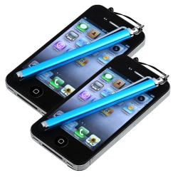 INSTEN Blue Touch Screen Stylus for Apple iPhone/ iPod/ iPad (Pack of 2)