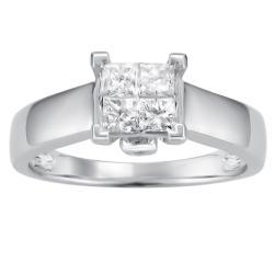 14k White Gold 1/2ct TDW Princess Diamond Composite Ring (I-J, I2)