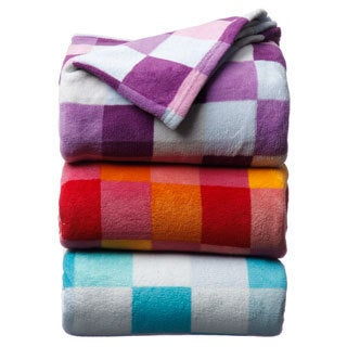Luxury Printed Check Microplush Blanket