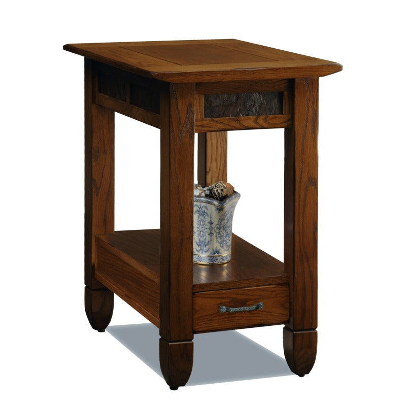 Rustic Oak Chairside Table Overstock Shopping Great Deals On Kd Furnishings Coffee Sofa