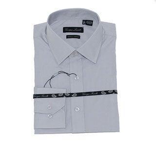 Men's Gray Slim-Fit Dress Shirt