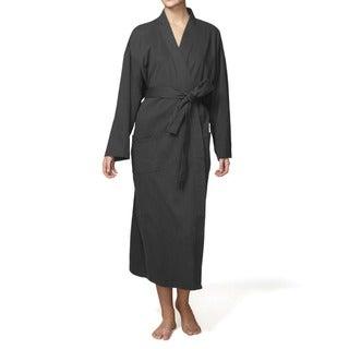Pure Fiber 100-percent Organic-cotton Kimono-style Belted Bath Robe