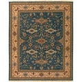 Hand Knotted Semi-Worsted New Zealand Wool Blue Harris Rug (8' x 10')