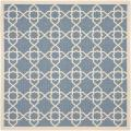 Safavieh Blue/Beige Indoor/Outdoor Geometric Rug (6'7
