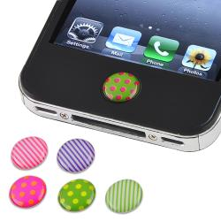 INSTEN Dot/ Strip Home Button Sticker for Apple iPhone/ iPad (Pack of 6)