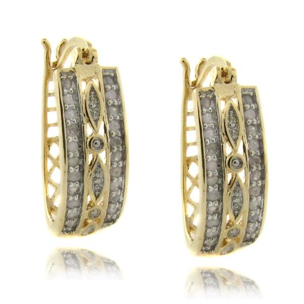 Finesque 14k Gold over Silver 1/2ct TDW Diamond Earrings (I-J, I2-I3)