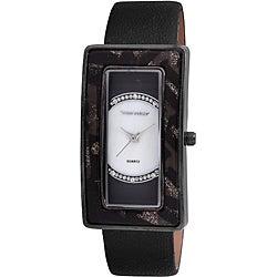 Vernier Woman's Rectangle Animal Print Bezel Watch