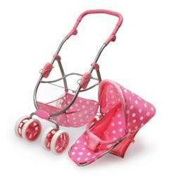 Badger Basket 6-wheel Doll Travel System Stroller and Carrier