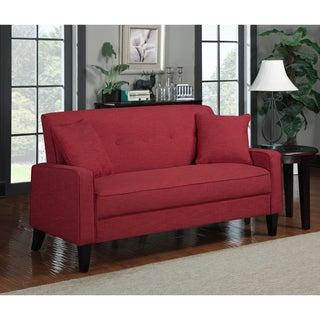 Portfolio Ellie Sunset Red Linen Sofa