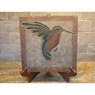 'The Hummingbird' Stone Artisan Tile/ Kitchen Tile