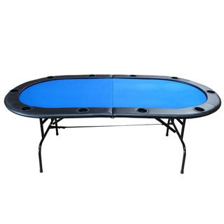 Bi-Fold Blue 84-inch Texas Hold'em Poker Table
