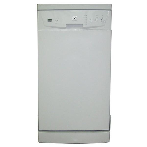 18-inch White Portable Dishwasher