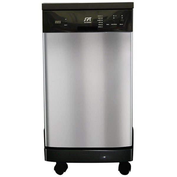 Stainless Steel 18-inch Portable Dishwasher