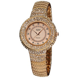 Burgi Women's Diamond-Accent-and-Crystal Water-Resistant Fashion Watch