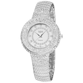 Burgi Women's Diamond Accent And Crystal Fashion Watch