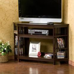 Conway Espresso Corner Media Stand