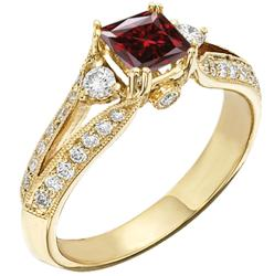 Star Legacy Pet Memorial Diamond - .50 CT Radiant-Cut Fancy Red Diamond