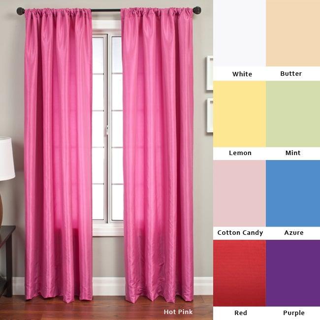 Luminous 96-inch Rod Pocket Curtain Panel