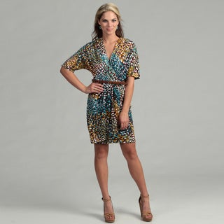 Calvin Klein Women's Multicolor Belted Dress
