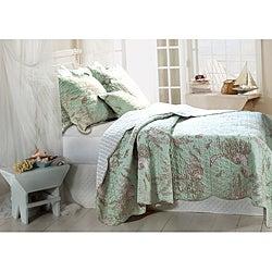 Bora Bora 3-piece Quilt Sham and Pillow Set
