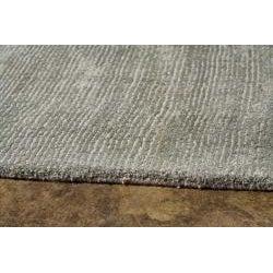 Hand-Woven Grey Wool and Art Silk Area Rug (8' X 10')