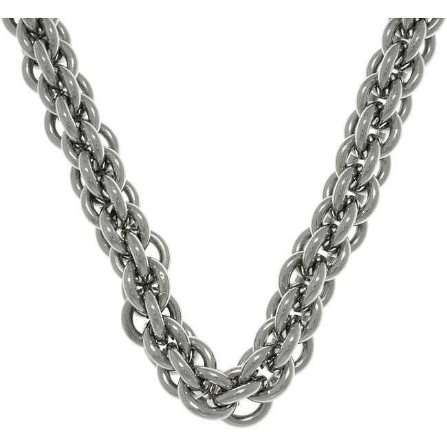 CGC Stainless Steel Double Round Link Chain Necklace