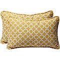 Pillow Perfect Yellow/ White Geometric Outdoor Toss Pillows (Set of 2)