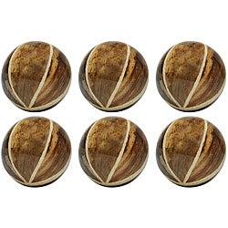 Red Vanilla Nature Sphere 4-inch Banana Bark Balls (Set of 6)