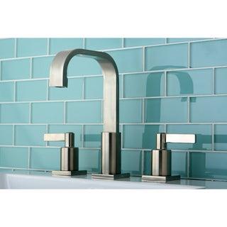 High Arch Satin Nickel Widespread Bathroom Faucet
