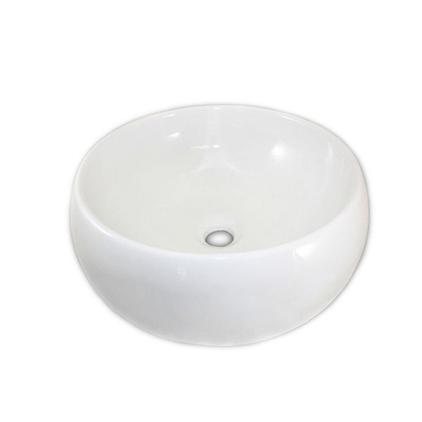 Monch White Ceramic Vessel Bathroom Sink