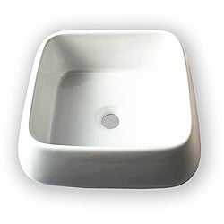 Flotera Jewel White Ceramic Vessel Bathroom Sink