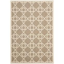 Safavieh Brown/ Beige Indoor Outdoor Rug (9' x 12')