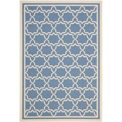 Safavieh Blue/ Beige Geometric Indoor/ Outdoor Rug (9' x 12')