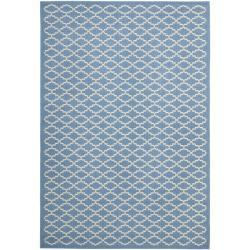 """Safavieh Blue/Beige Indoor/Outdoor Power-Loomed Rug (2'7"""" x 5')"""